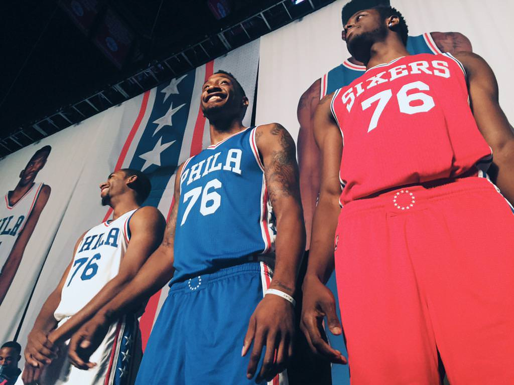 Philadelphia 76ers Rebranded Jerseys and Logos