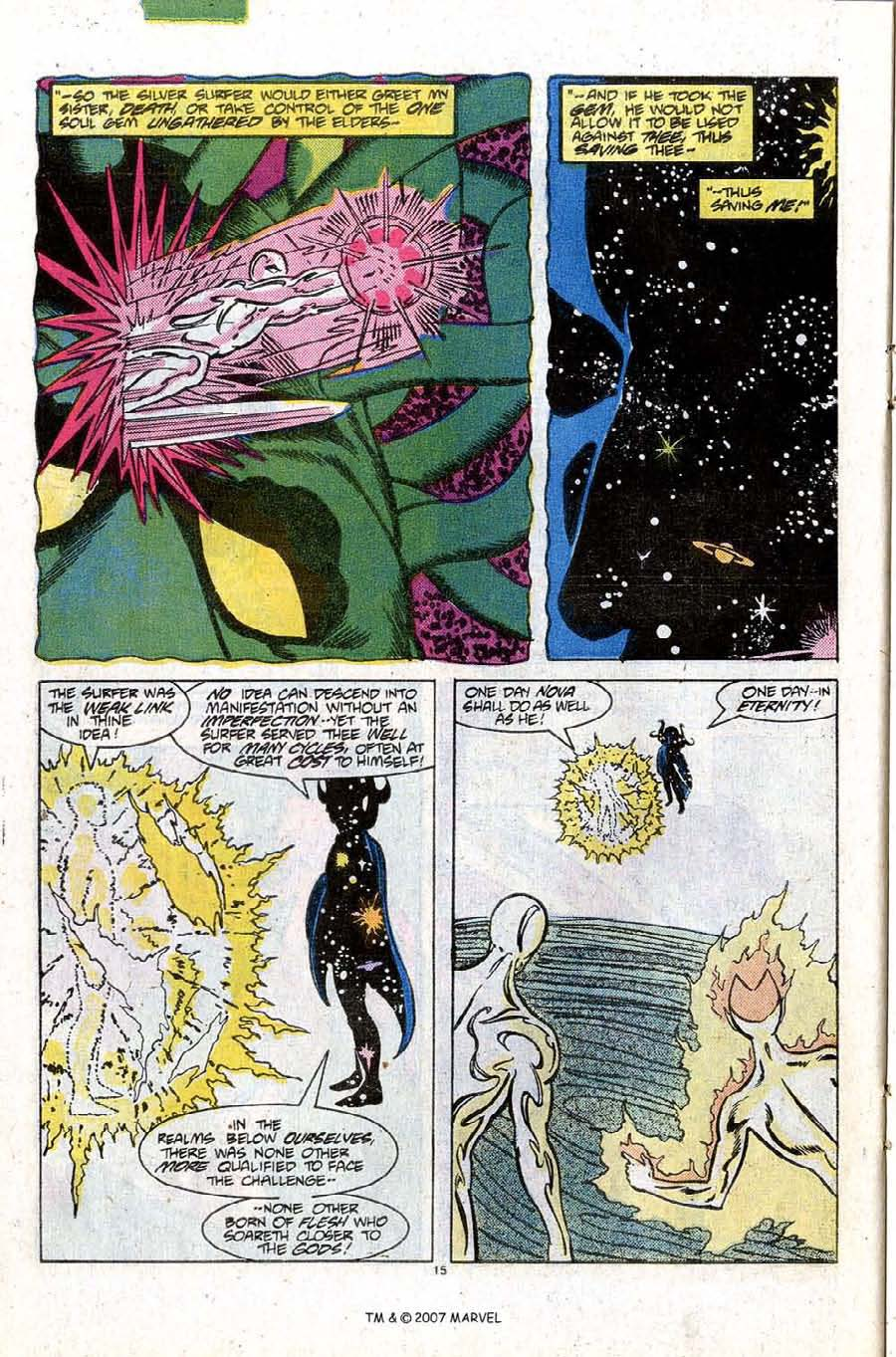Read online Silver Surfer (1987) comic -  Issue #10 - 22