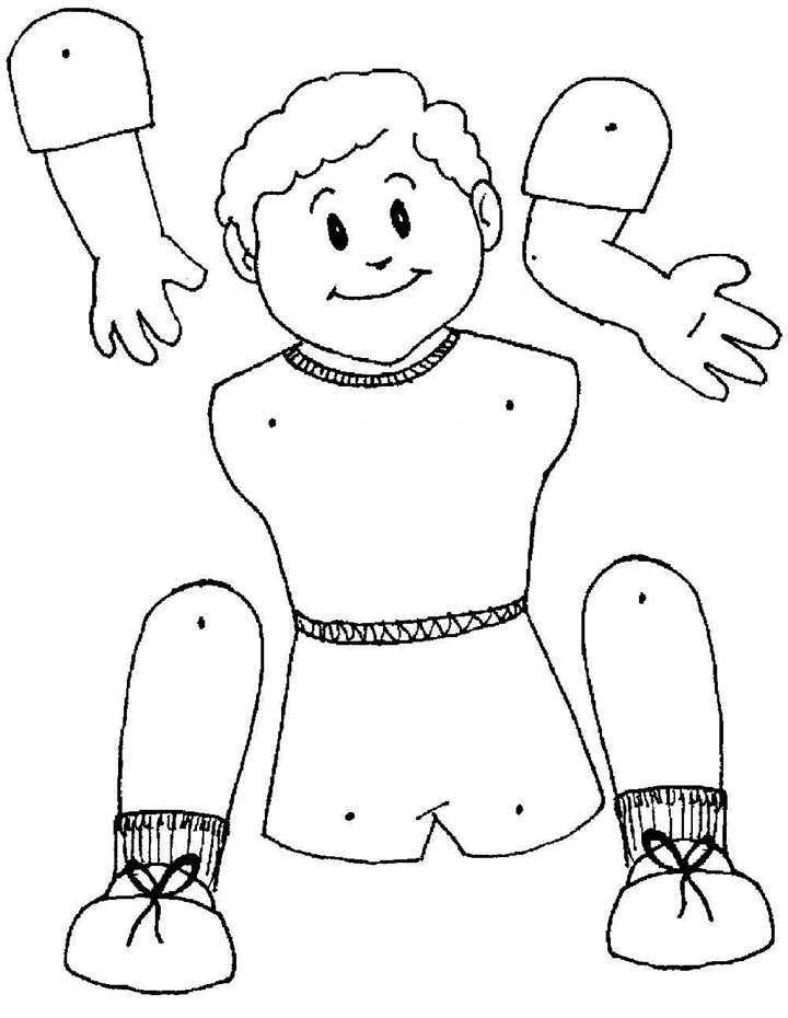 marioneta niño colorear