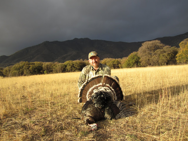 Dan with his second Gould's turkey with Colburn and Scott Outfitters
