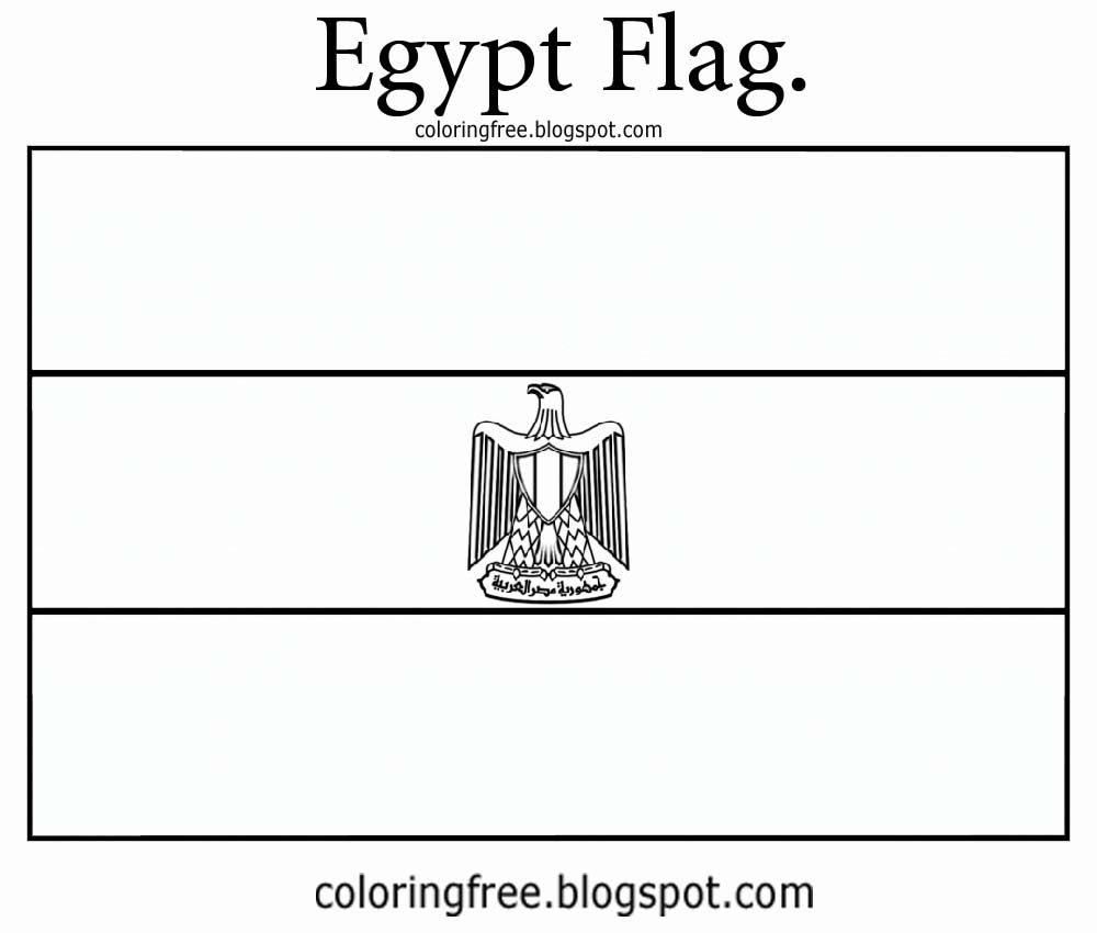 Flag Of Egypt Coloring Sheet | Coloring Page