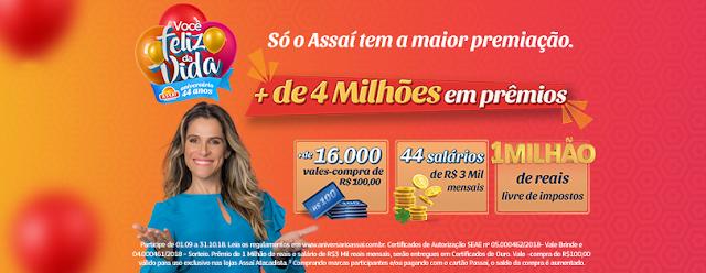 """Promoção: """"Aniversário Assaí 44 anos"""" Blog Top da Promoção #topdapromocao www.topdapromocao.com.br"""
