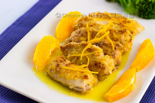 Pan-fried Chicken Thigh in Orange Sauce02