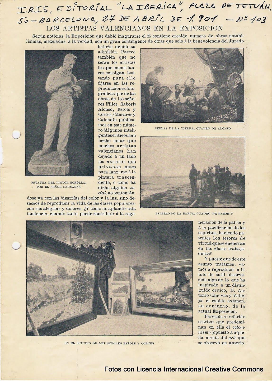 Escultor y pintor ricardo causar s casa a 2012 11 25 el archivo municipal de valencia el - Viveros amoros ...