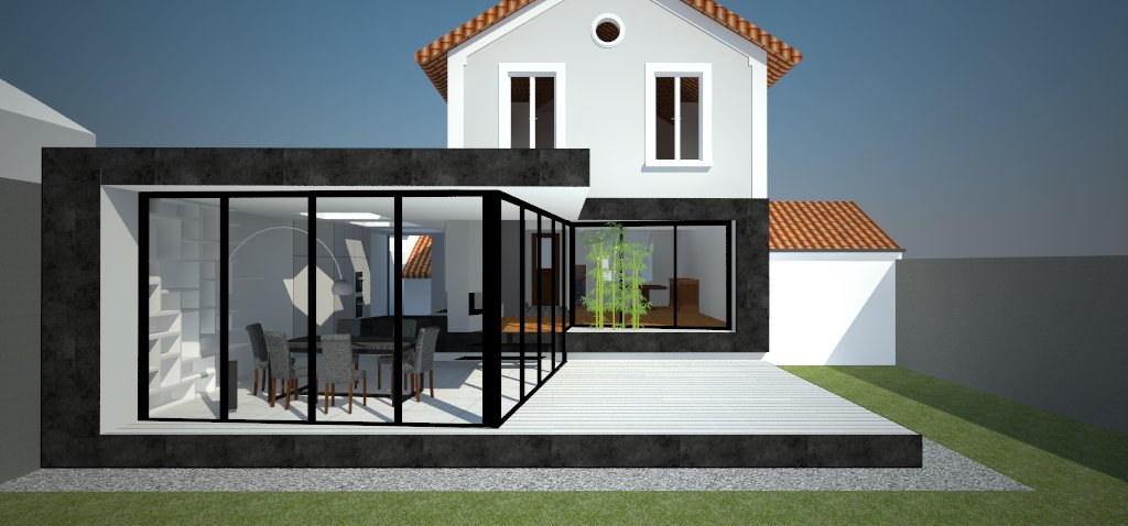 extension de pavillon extension de pavillon a saint maur des fosses. Black Bedroom Furniture Sets. Home Design Ideas