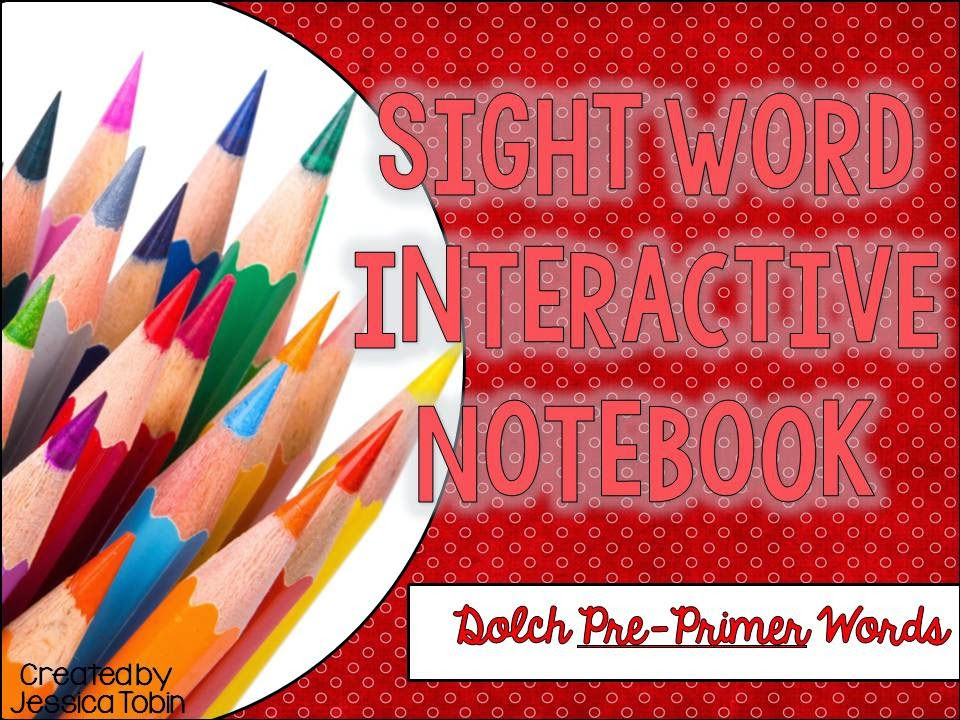 Sight Word Interactive Notebooks- cut and glue activities to learn sight words- hands on activities to master sight words