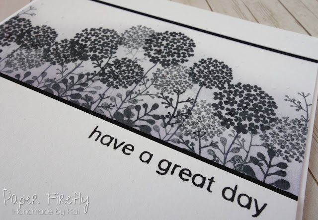 Floral silhouette stamped card using Dragonfly dreams by Card-io