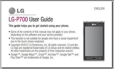 LG Optimus L7 P700 Manual / User Guide
