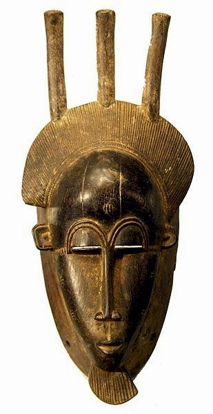 African mask adapted by Modigliani