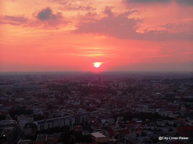 Solnedgång i Berlin