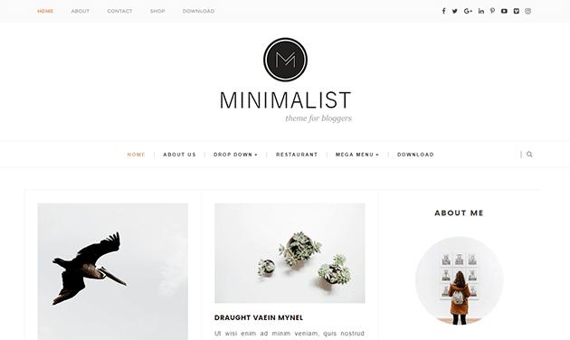 minimalist - бесплатная тема для blogger 2016