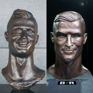 The artist corrects the statue of Cristiano Ronaldo ...!