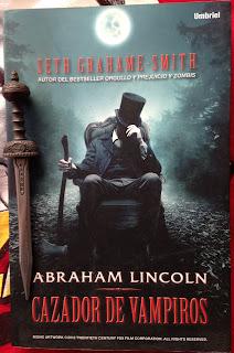 Portada del libro Abraham Lincoln: Cazador de vampiros, de Seth Grahame-Smith