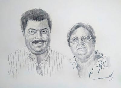 Retrato a lápiz