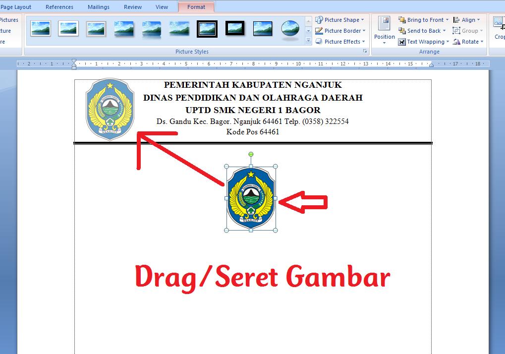 Cara Membuat Logo Di Samping Alamat Kop Surat Ms Word Espada Blog