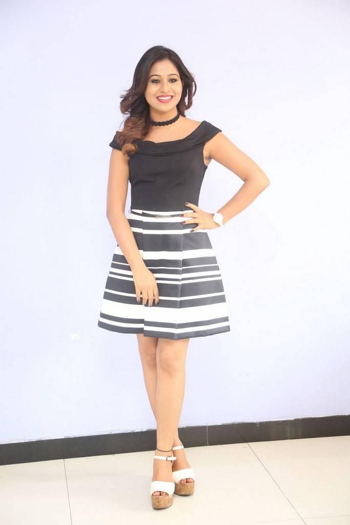 Telugu Actress Manali Rathod Stills In Hot Mini Black Skirt