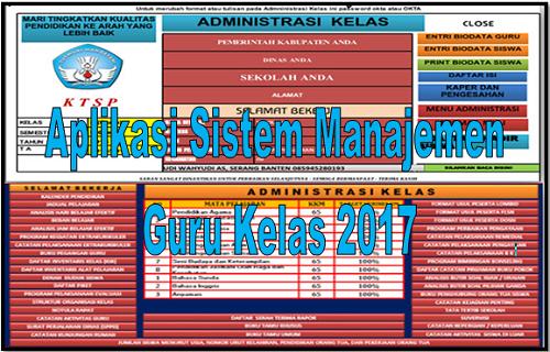 Aplikasi Sistem Manajemen Guru Kelas 2017