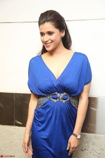Mannara Chopra in Short Blue Dress at Rogue Movie Teaser Launch 1st March 2017 119.JPG
