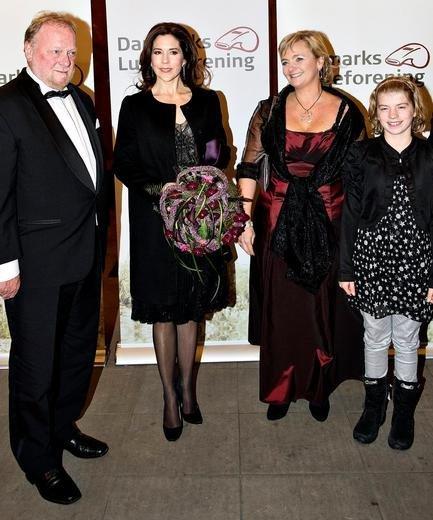 Princess Mary wore Heartmade dress and a black Prada coat with press-buttons. Prada Black Satin Box Clutch, Shoes, Prada Satin Pumps