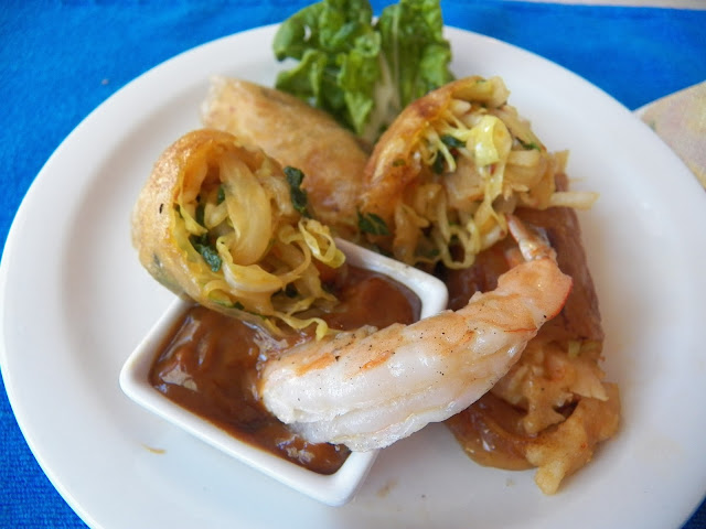 Shrimp and Bok Choy Spring Rolls
