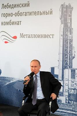 Vladimir Putin Lebedinsky GOK.