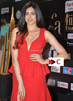 Adah Sharma in Red Deep Neck Spicy Gown ~  Exclusive 26.jpg