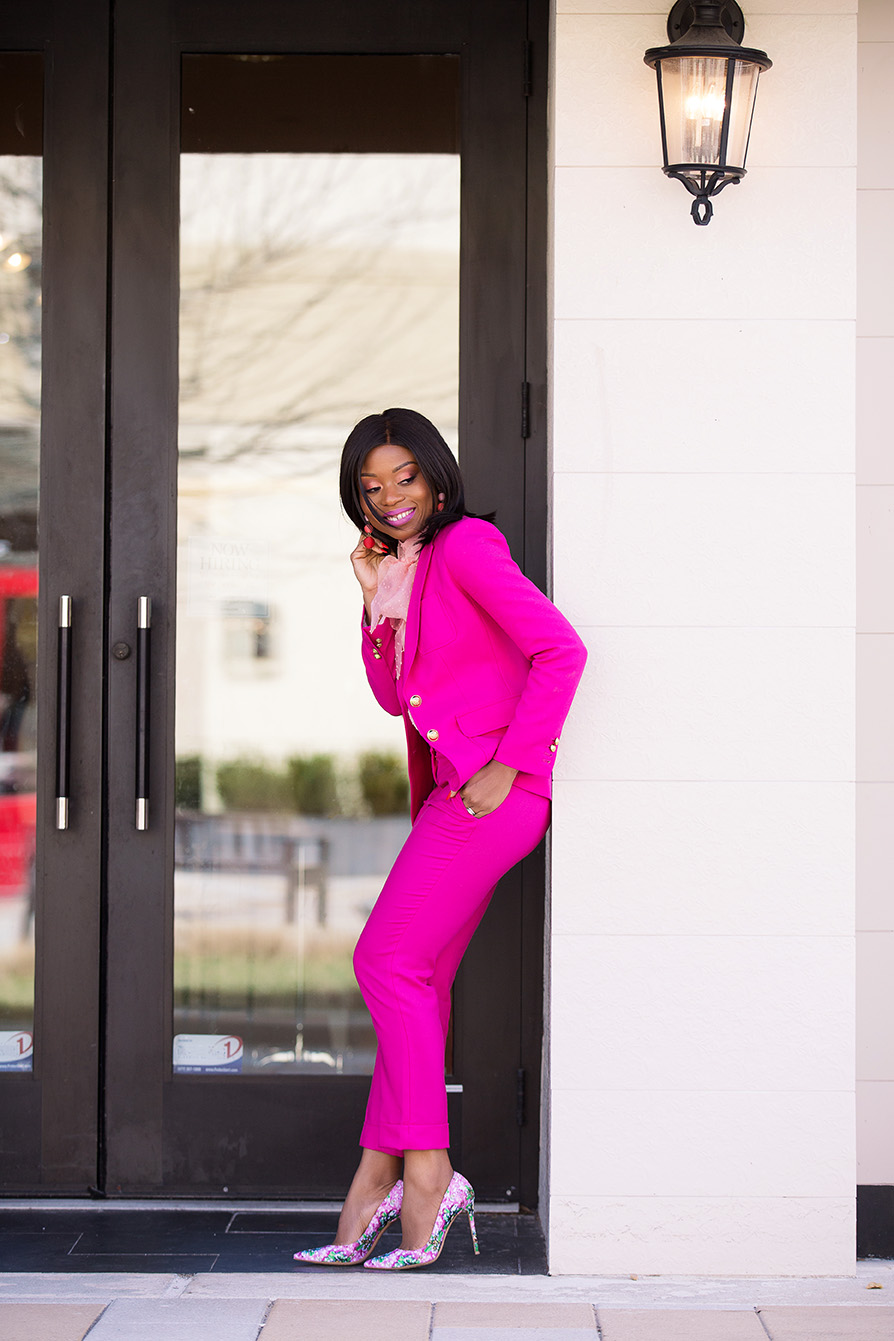 Shades of pink, jcrew pink suit, www.jadore-fashion.com