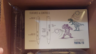 First shot of mynt3d, still in shipping box. Notice the diagram of the pen and some well composed doodles.