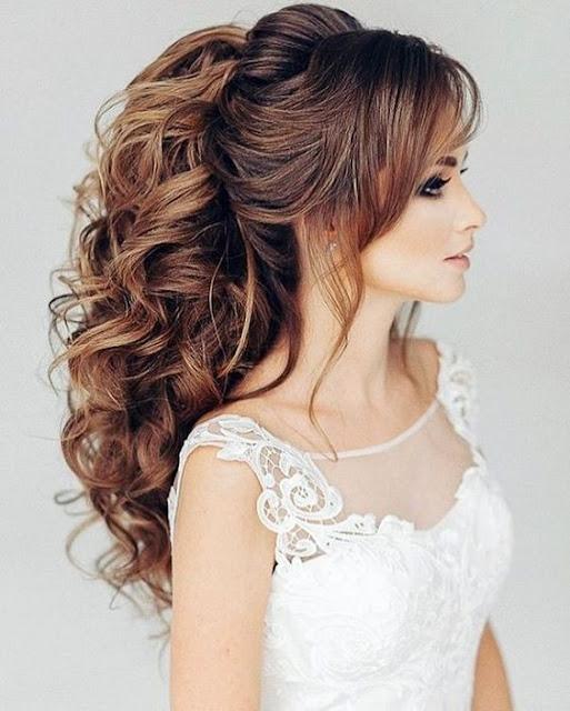 35 Beautiful Wedding Hairstyles For Long Hair: Fashion Bloom: Beautiful Wedding Hairstyles For Elegant