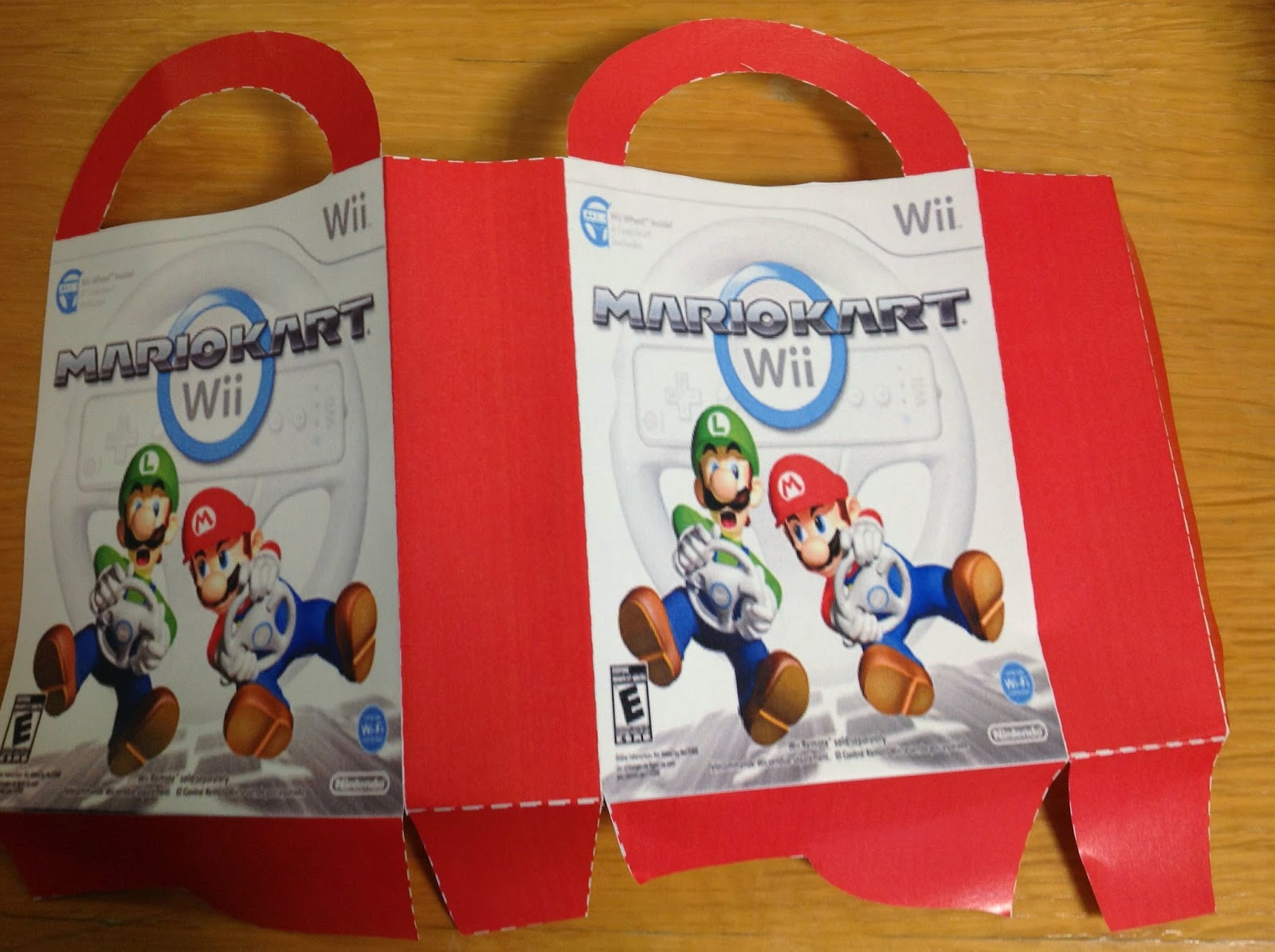 mario kart party favor bag free printable