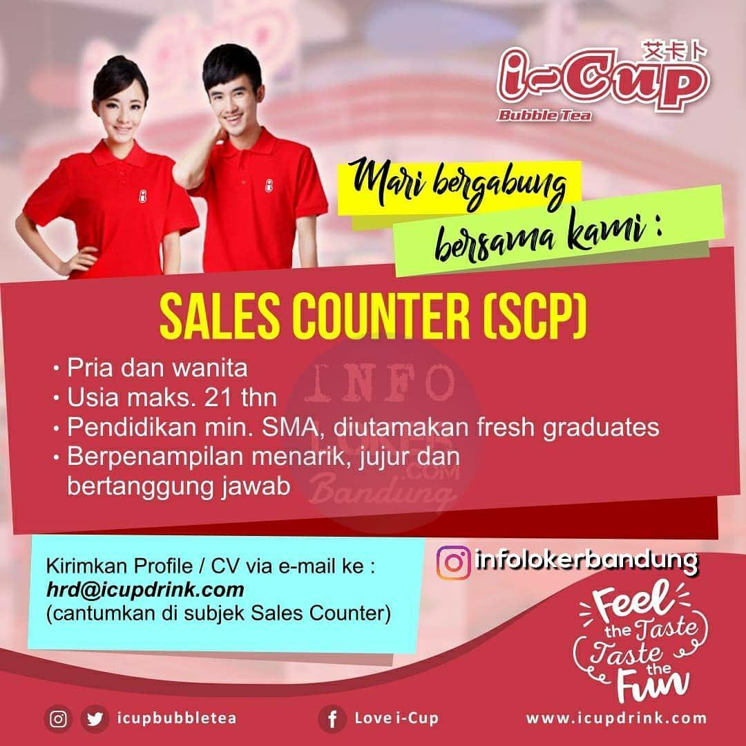 Lowongan Kerja I-Cup Bubble Tea Bandung September 2018