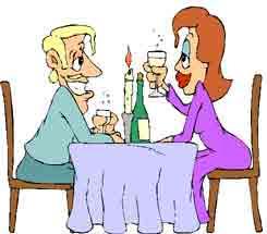 jantando com seu par