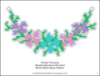 Free Seed Bead Necklace Pendant Pattern Download.