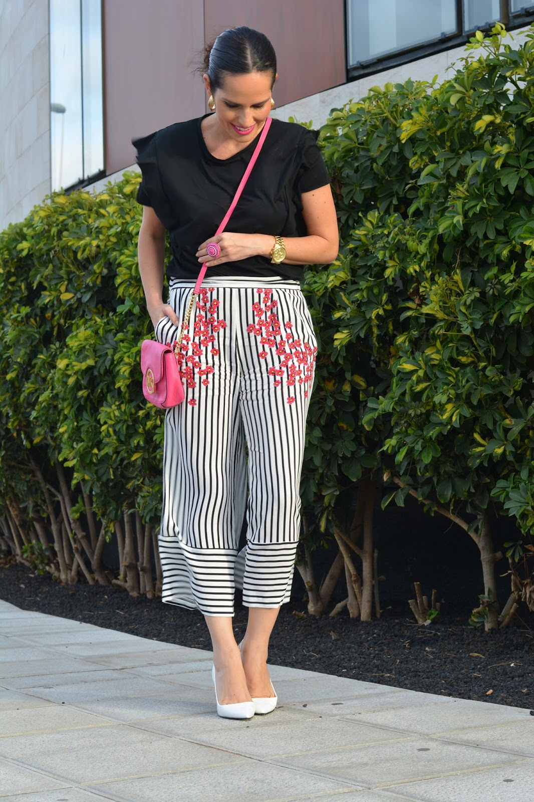 zara-outfit-culottes-streetstyle-rosa-rayas