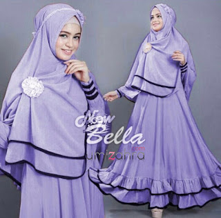 harga new gamis bella syari fit l light purple