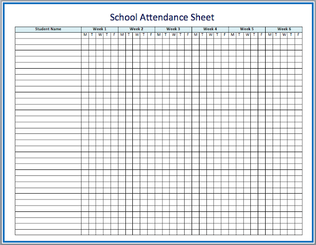 of attendance sheet the need of this attendance sheet or attendance ...