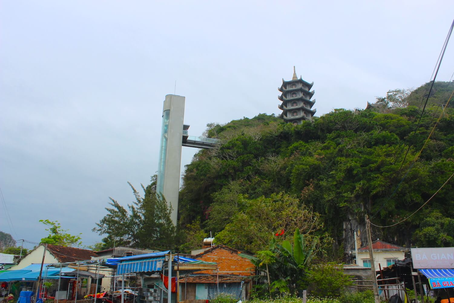 marble mountain da nang elevator and pagoda