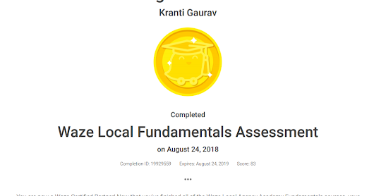 Waze Local Fundamentals - Kranti Gaurav