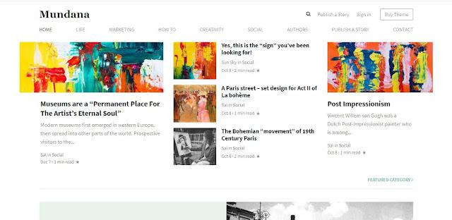Mundana WordPress Theme like Medium (100% Original)