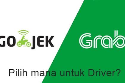 Perbedaan Aplikasi Driver Grab dan Go-Jek