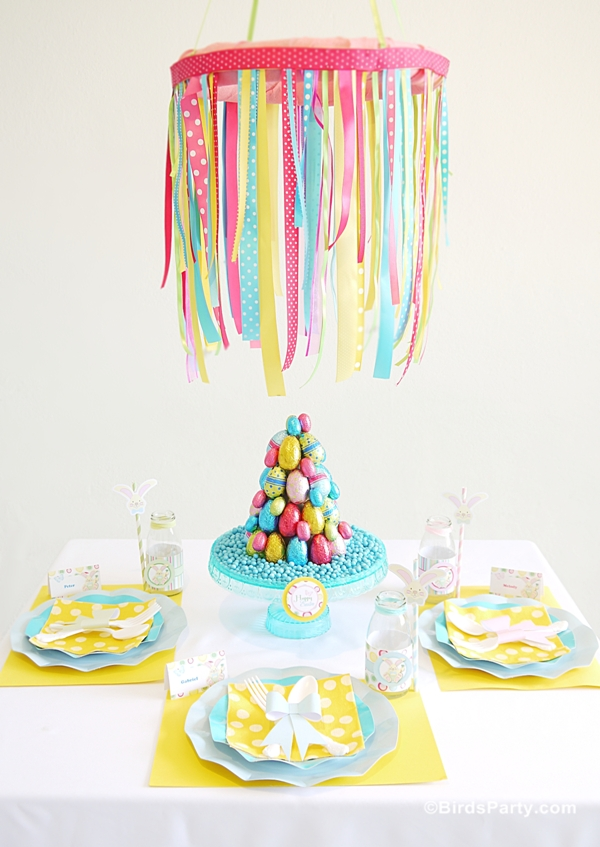 Easter Kids Brunch & DIY Party Ideas with Printables - BirdsParty.com