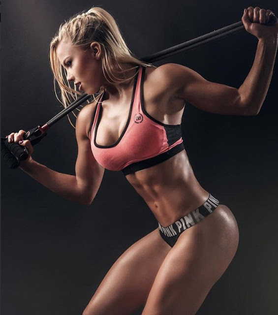 Chicas Fitness mujeres guapas pink