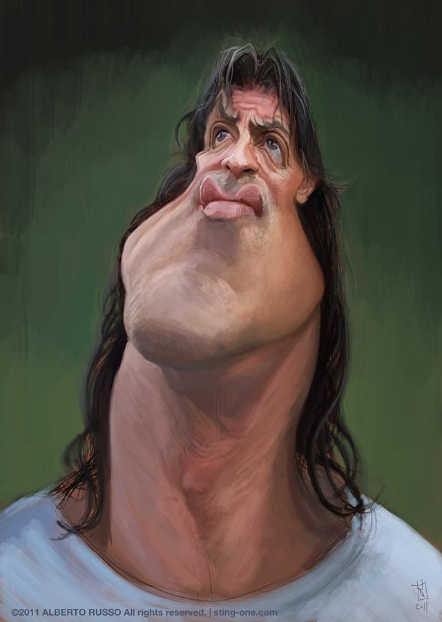 Sylvester Stallone por Alberto Russo
