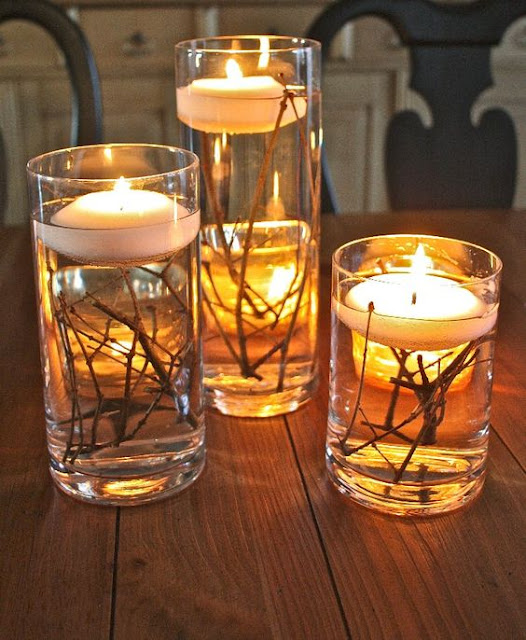 DIY fall wedding centerpiece idea