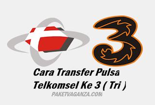 Cara Transfer Pulsa Telkomsel Ke 3 ( Tri ) Terbaru 2019