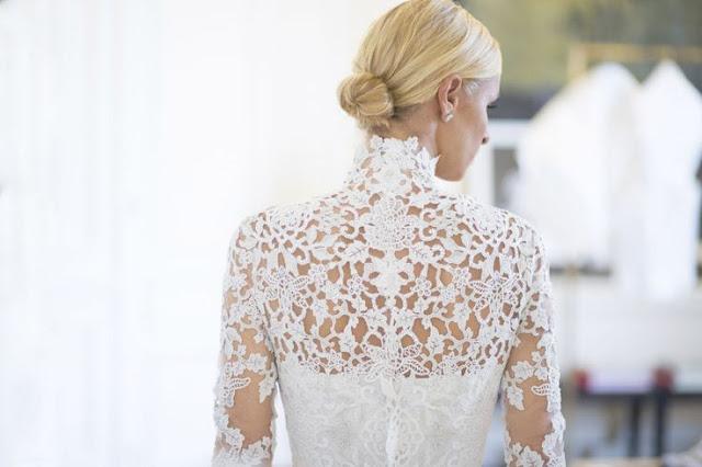Nick Hilton, renda vestido de noiva
