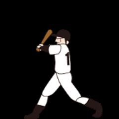 A moving baseball player