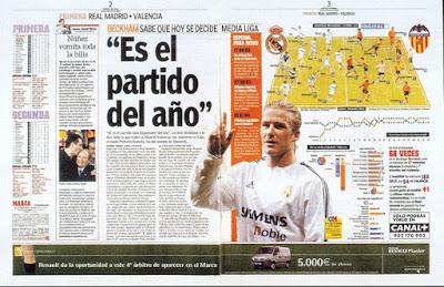 exemple mise en page journal espagnol article es el partido del ano