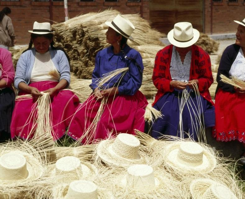 f98a0f64 La Paja Toquilla (Toquilla straw hat) production of the 'panama' Ecuador  hats.