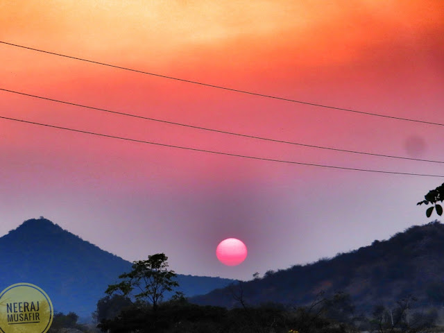 Sunset View in Daroji Bear Sanctuary